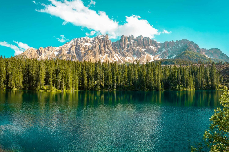 Lago di Carezza e Gruppo del Latemar in Alto Adige