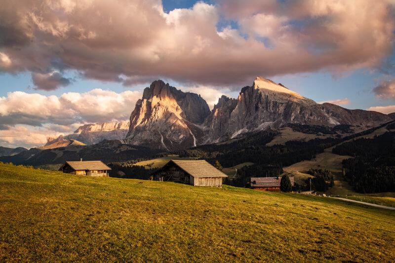 Gruppo del Sassolungo dall'Alpe di Siusi
