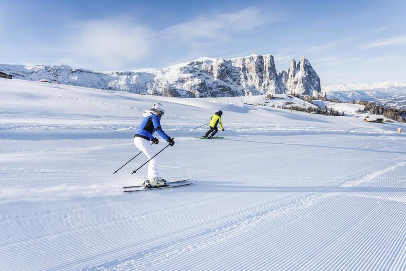 Sciare sull'Alpe di Siusi