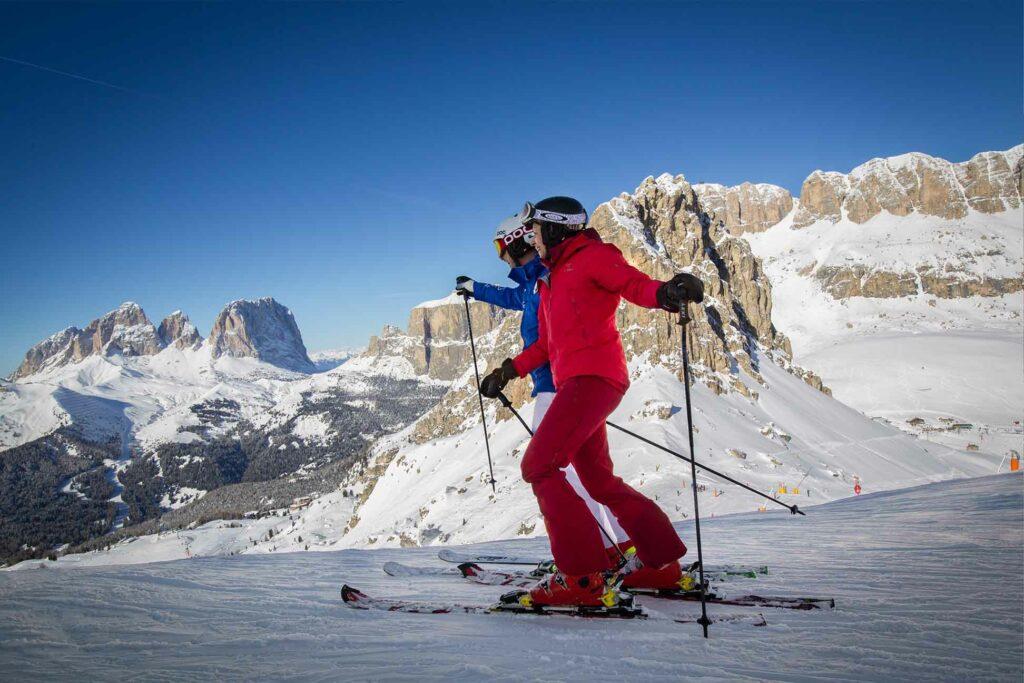 Panorami invernali tra le Ski Aree in Val di Fassa