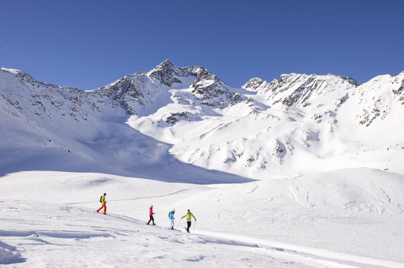 Val Senales panorama invernale ciaspolate