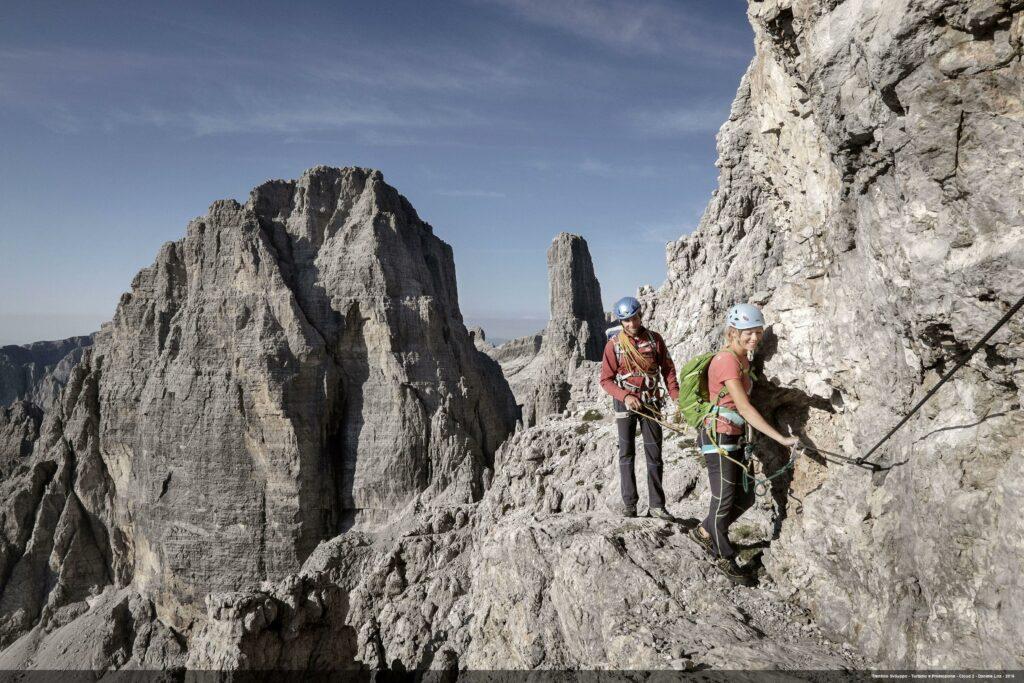 Arrampicata sulle Dolomiti